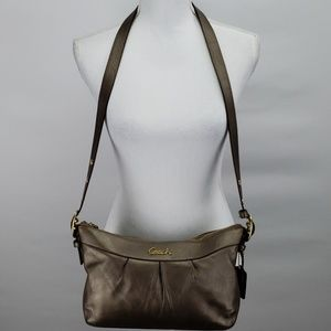 Coach Shimmery Brown Adjustable Crossbody Bag